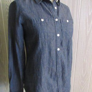 LOFT denim softened shirt